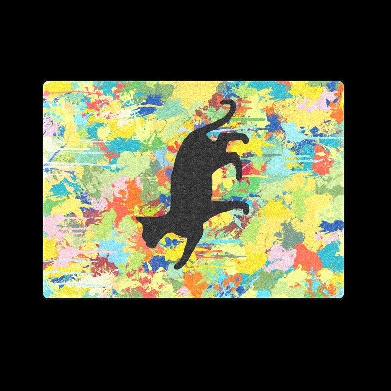 """Lovely Cat Colorful Splash Blanket 58""""x80"""""""