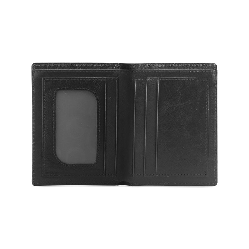 Free Wolf Colorful Splash Complete Men's Leather Wallet (Model 1612)