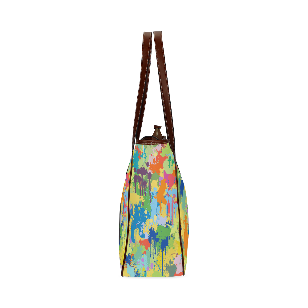 Horse Black Shape Colorful Splash Classic Tote Bag (Model 1644)