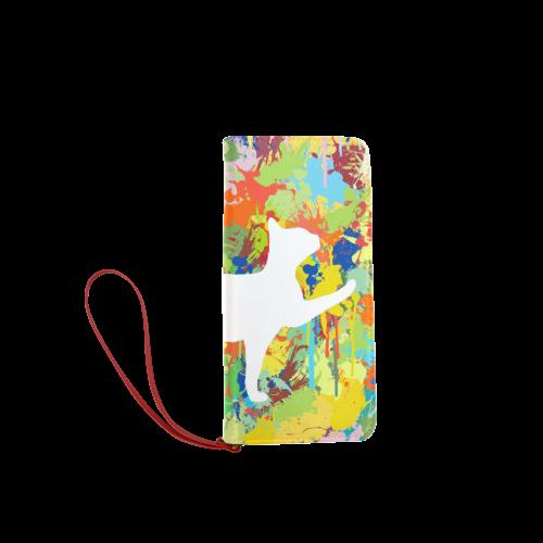 Lovely Cat Colorful Splash Complet Women's Clutch Wallet (Model 1637)
