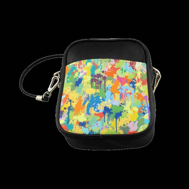 Colorful Splash Design Sling Bag (Model 1627)
