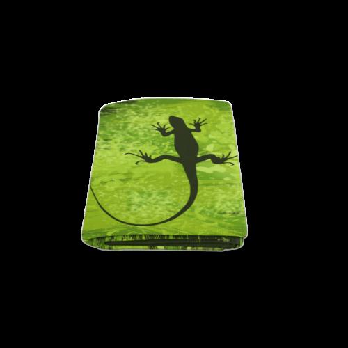 "Green Lizard Shape Painting Blanket 50""x60"""