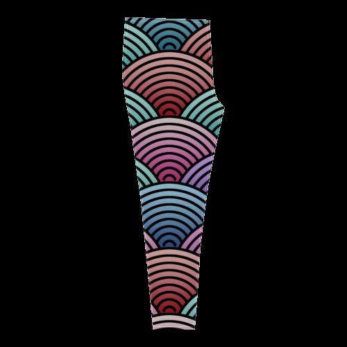 Concentric Circle Pattern Cassandra Women's Leggings (Model L01)