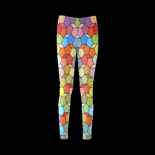 Colorful Polygon Pattern Cassandra Women's Leggings (Model L01)