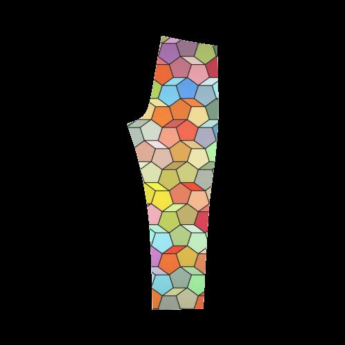 Colorful Polygon Pattern Capri Legging (Model L02)