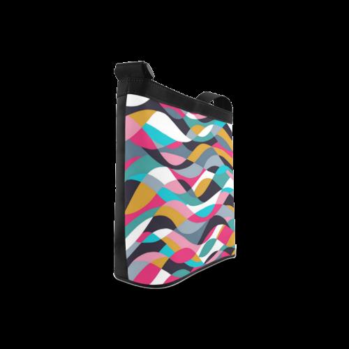 Retro Mod Abstract Waves Crossbody Bags (Model 1613)