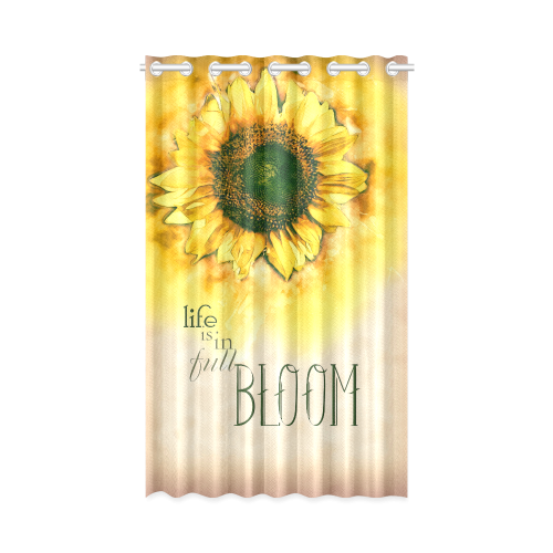 """Painting Sunflower - Life is in full bloom New Window Curtain 50"""" x 84""""(One Piece)"""