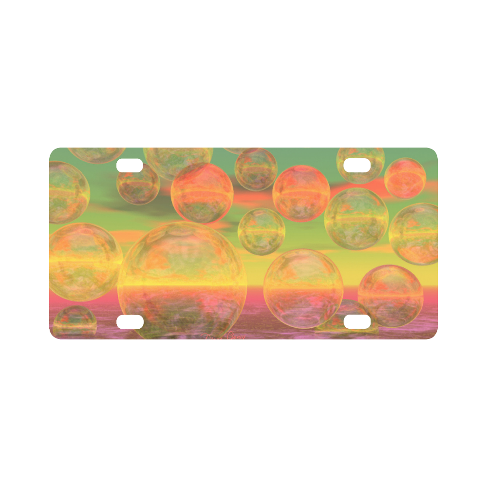 Autumn Ruminations, Abstract Gold Rose Glory Classic License Plate