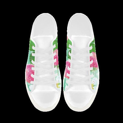 Strawberries Aquila Microfiber Leather Women's Shoes (Model 028)