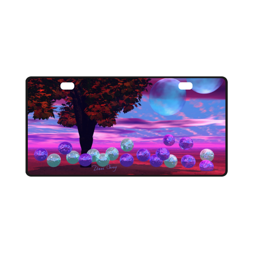 Bubble Garden, Abstract Rose  Azure Wisdom License Plate