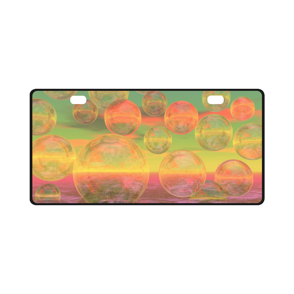 Autumn Ruminations, Abstract Gold Rose Glory License Plate