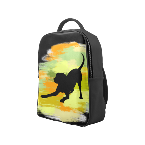 Dog Playing Please Painting Shape Popular Backpack (Model 1622)