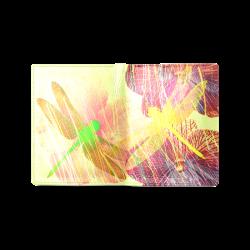Dragonflies & Flowers Summer Men's Leather Wallet (Model 1612)