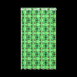 "Green Gold Moroccan Lattice Diamonds Quilt New Window Curtain 52"" x 84""(One Piece)"