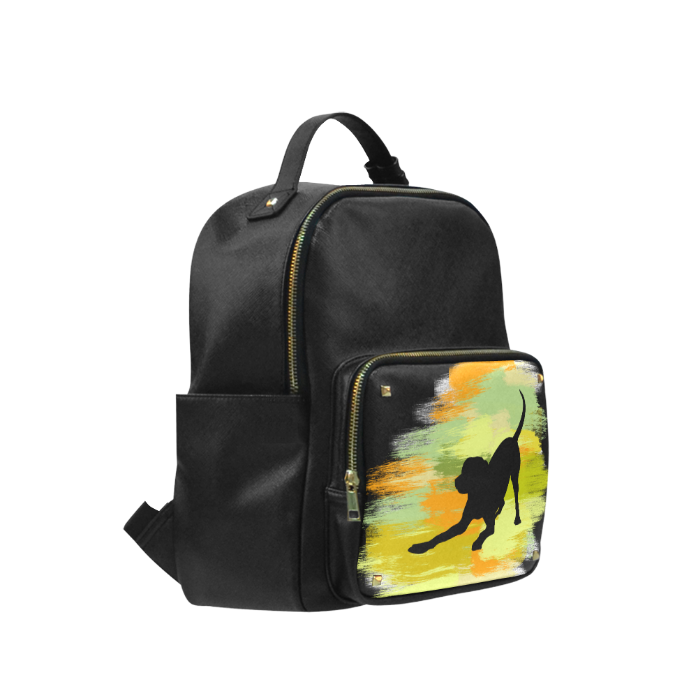 Dog Playing Please Painting Shape Campus backpack/Large (Model 1650)
