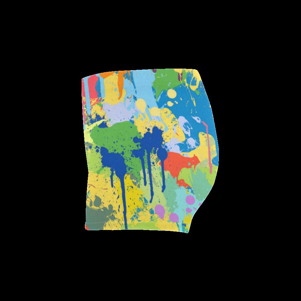 Colorful Splash Design Briseis Skinny Shorts (Model L04)