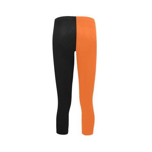 Lilac Black Design Capri Legging (Model L02)