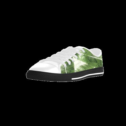 Tropical Bananas Leaves Aquila Microfiber Leather Women's Shoes (Model 028)