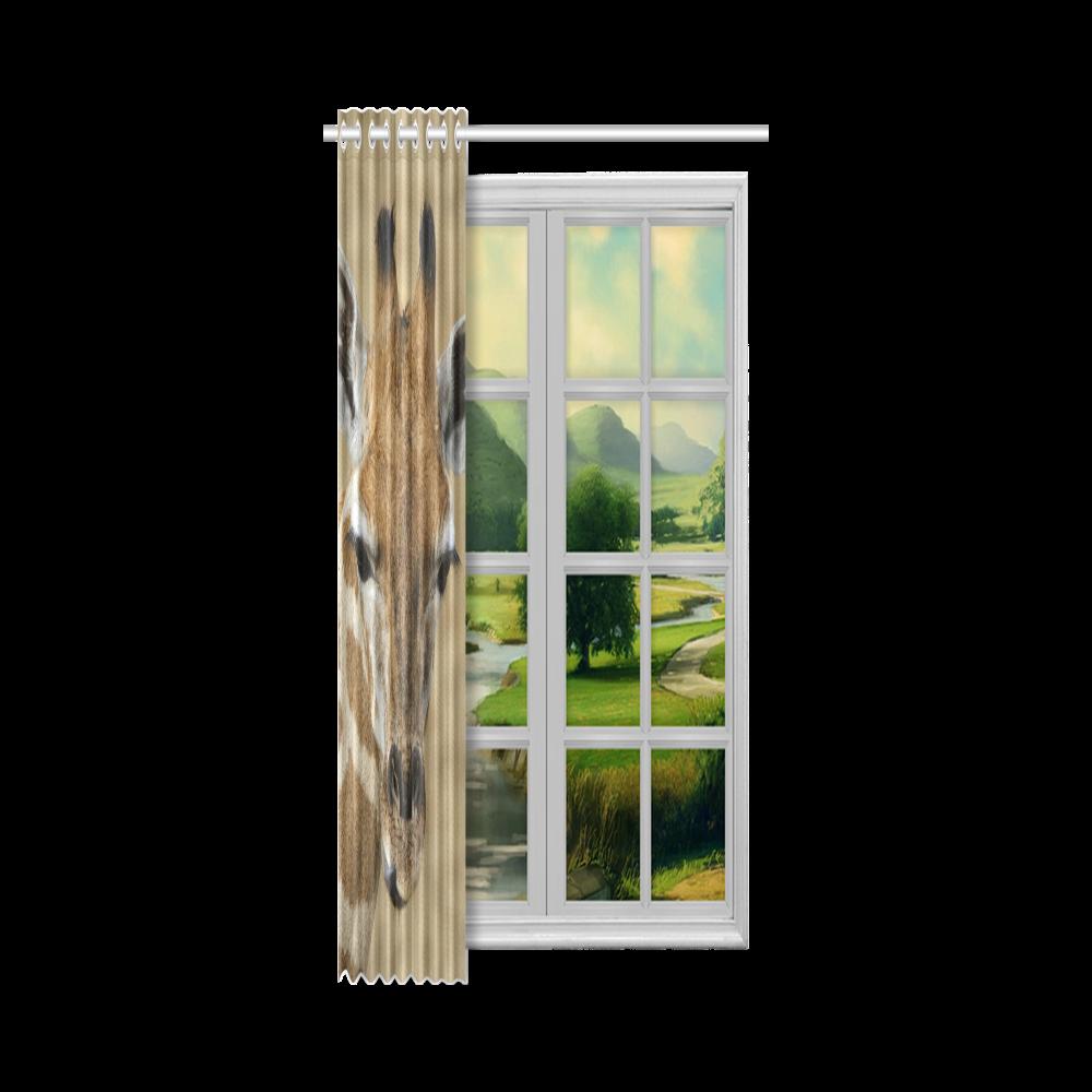 """Giraffe20160701 New Window Curtain 50"""" x 108""""(One Piece)"""