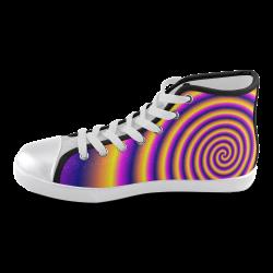 Rainbow's End Men's High Top Canvas Shoes (Model 002)