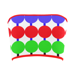 Lollipop Pattern Design Bandeau Top