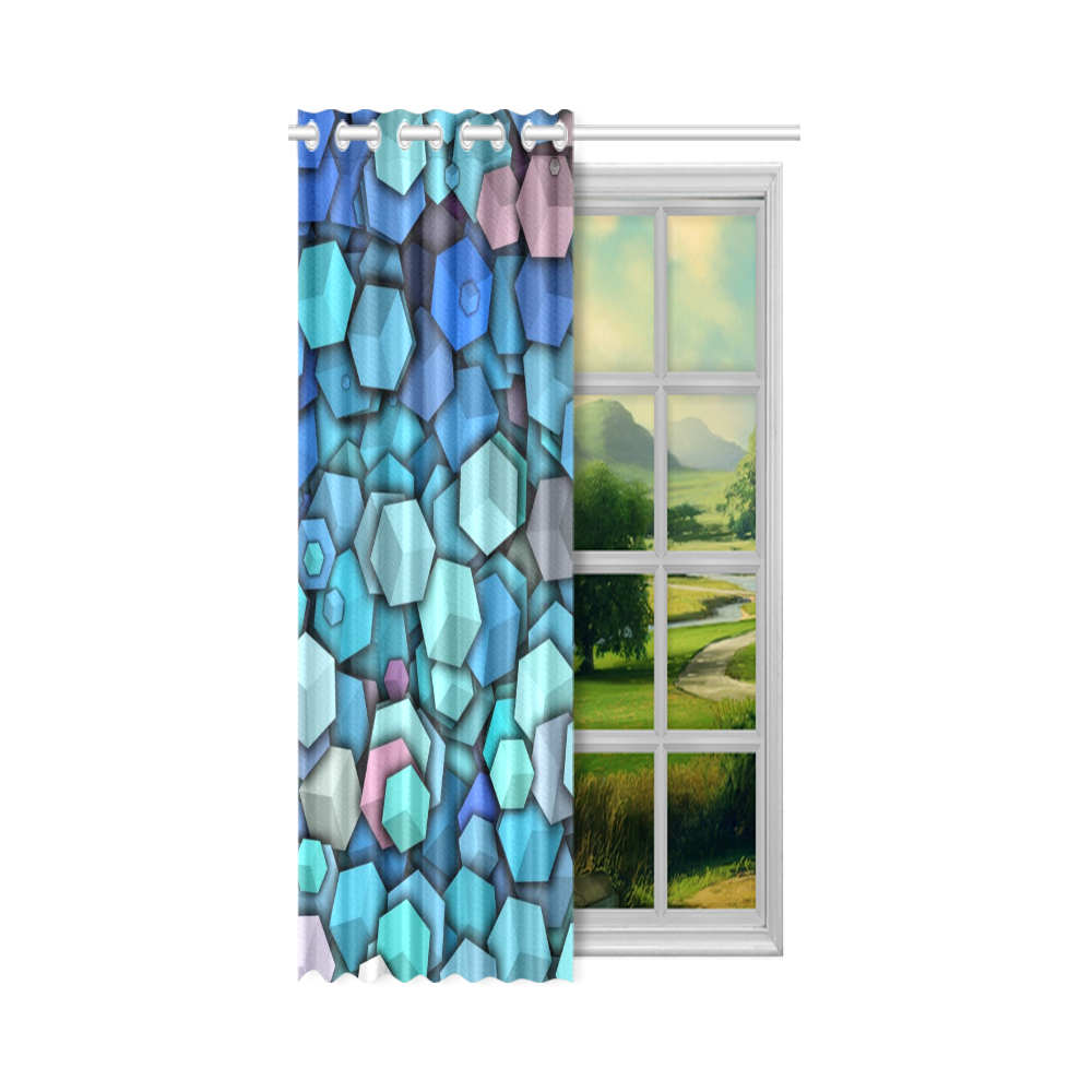 "lovely dancing blocks 2 New Window Curtain 52"" x 84""(One Piece)"