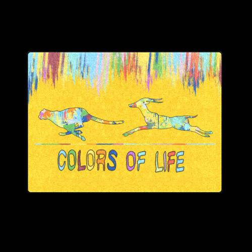 "Colors of Life Splash Shape Antelope Cheetah Blanket 58""x80"""