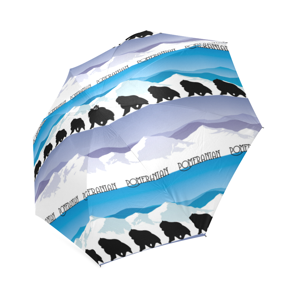 Pomeranian Rockin the Rockies Foldable Umbrella (Model U01)