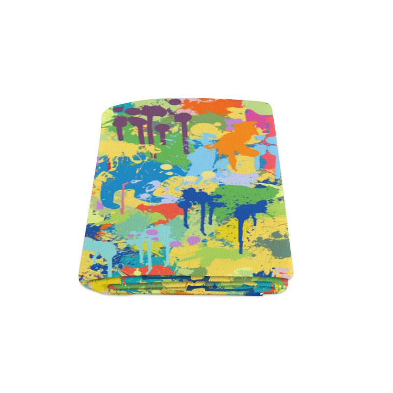 "Colorful Splash Design Blanket 58""x80"""