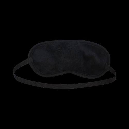 Chevron ZigZag black & white transparent Sleeping Mask