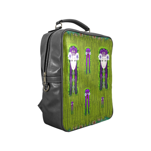 Lady Panda Is here Popart Square Backpack (Model 1618)
