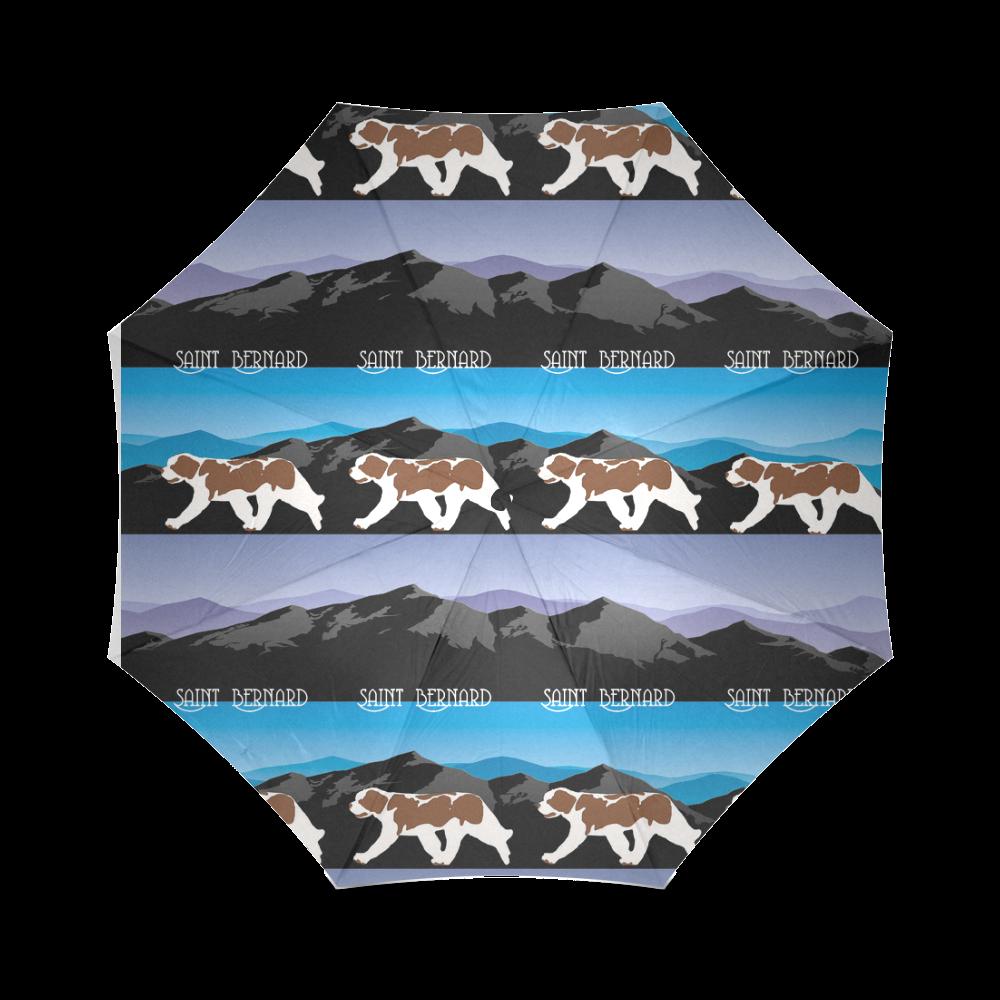 Saint Bernard Rockin The Rockies Foldable Umbrella (Model U01)