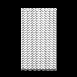 "Grey and white small zigzag chevron New Window Curtain 52"" x 84""(One Piece)"