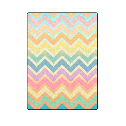 "Summer-color Chevron Blanket 58""x80"""