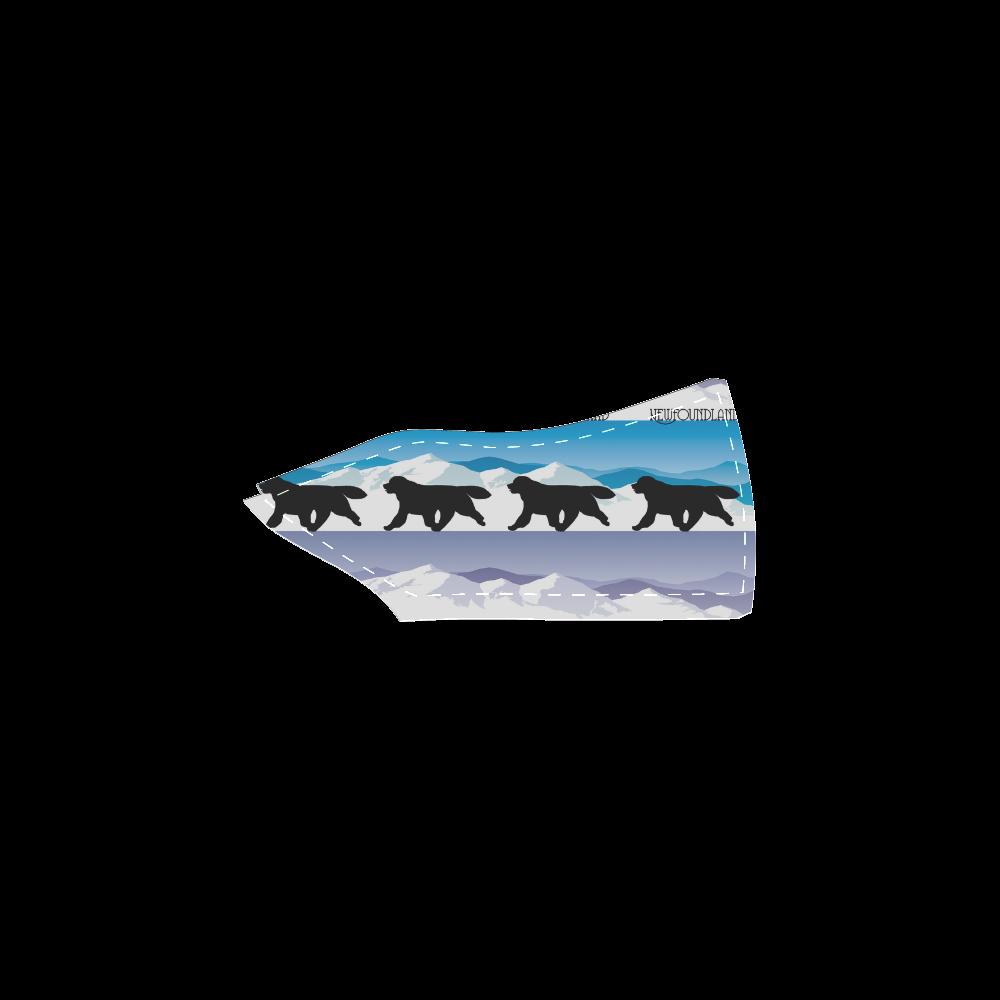 Newfoundland Rockin The Rockies Women's Unusual Slip-on Canvas Shoes (Model 019)