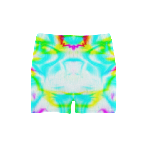 tropical ink blue yellow purple pattern ZT03 Briseis Skinny Shorts (Model L04)