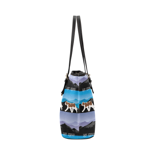 Saint Bernard Rockin The Rockies Leather Tote Bag/Small (Model 1651)