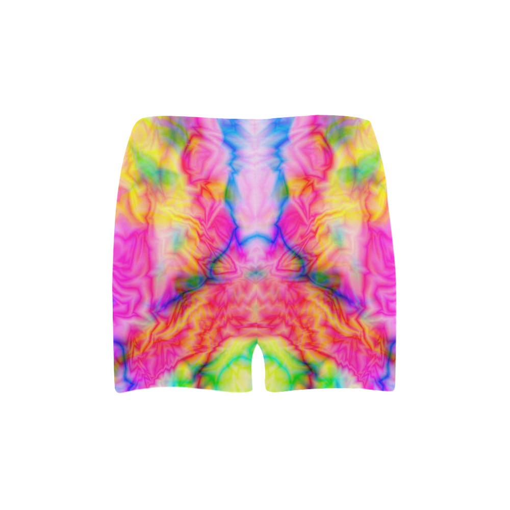 Tropical blue yellow pink abstract texture ZT05 Briseis Skinny Shorts (Model L04)