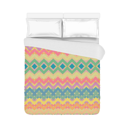 "Summer-color Chevron 2 Duvet Cover 86""x70"" ( All-over-print)"
