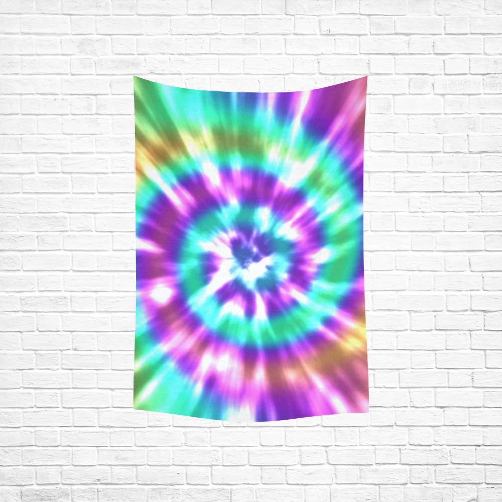 "Tie Dye Summer Cotton Linen Wall Tapestry 40""x 60"""