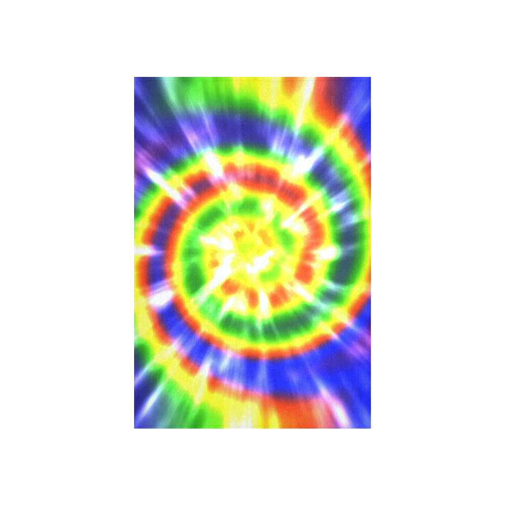 """Tie Dye Primary Colors Cotton Linen Wall Tapestry 40""""x 60"""""""