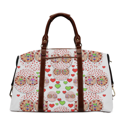 Love Bunnies in peace and Popart Classic Travel Bag (Model 1643)