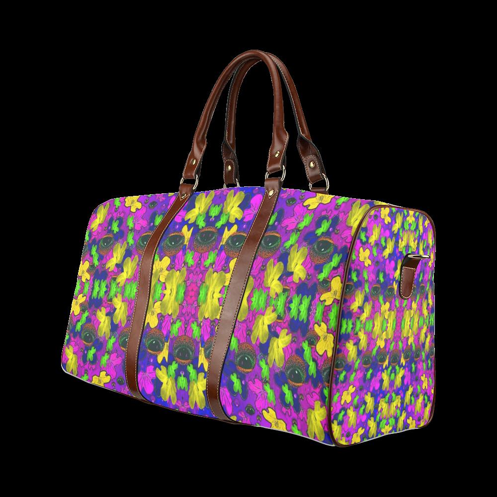 Eyes in the dark popart Waterproof Travel Bag/Large (Model 1639)