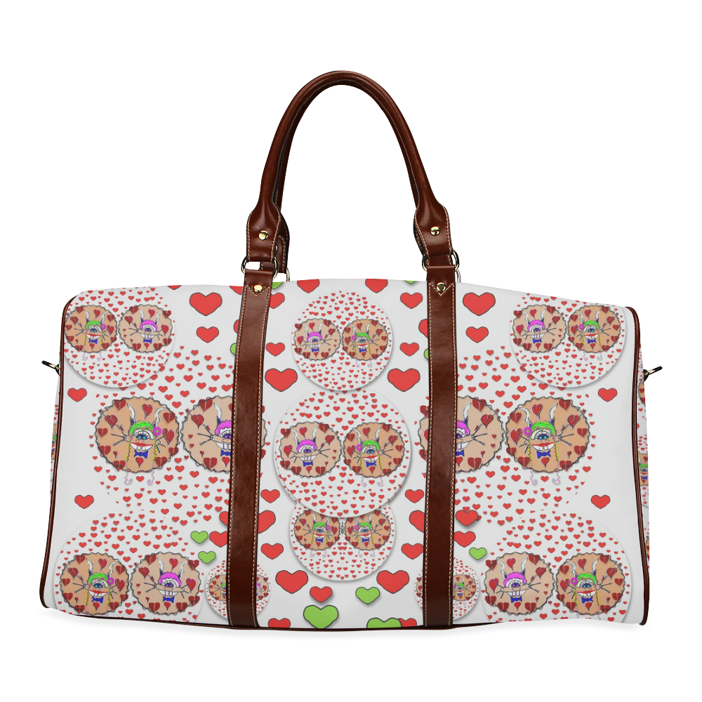 Love Bunnies in peace and Popart Waterproof Travel Bag/Large (Model 1639)