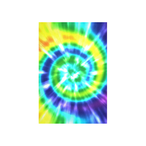 "Tie Dye Rainbow 3 Cotton Linen Wall Tapestry 40""x 60"""