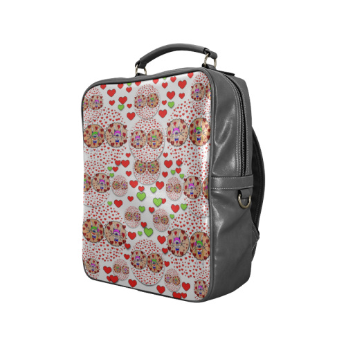 Love Bunnies in peace and Popart Square Backpack (Model 1618)
