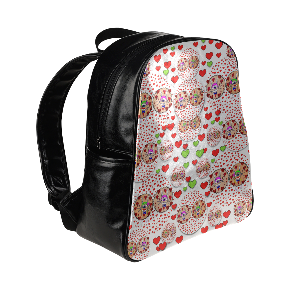 Love Bunnies in peace and Popart Multi-Pockets Backpack (Model 1636)