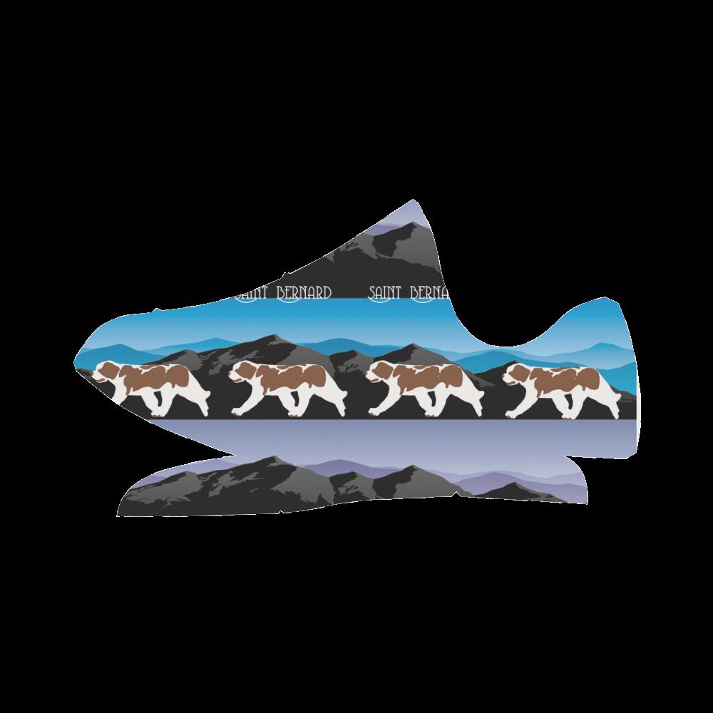 Saint Bernard Rockin The Rockies Grus Men's Breathable Woven Running Shoes (Model 022)