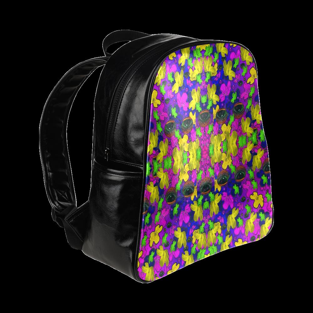 Eyes in the dark popart Multi-Pockets Backpack (Model 1636)