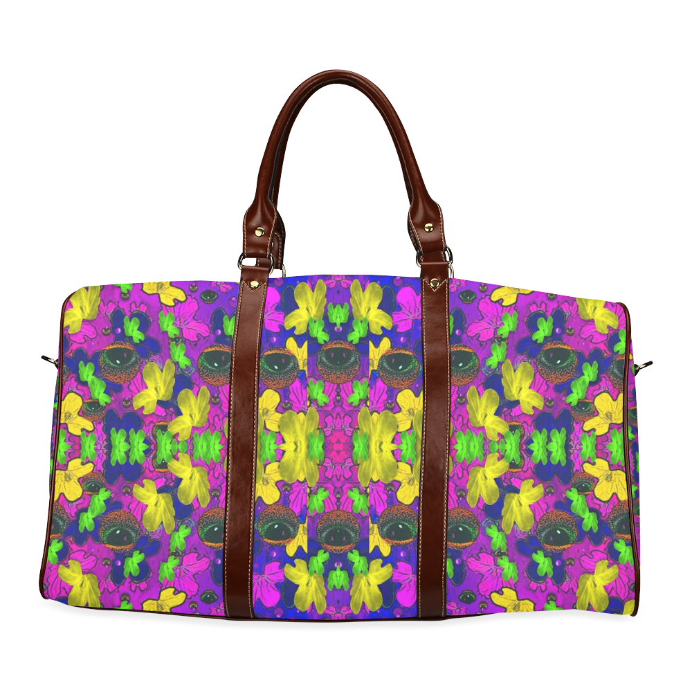 Eyes in the dark popart Waterproof Travel Bag/Large (Model 1639)